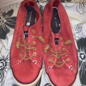 Maroon Sperry Top- Sider Shoes